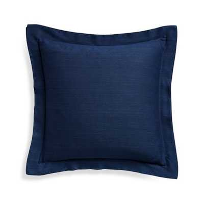"""Wallace Blue 20"""" Pillow Cover - Crate and Barrel"""