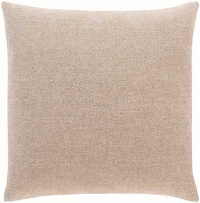 "Wells Pillow Cover, 18""x 18"", Taupe - Cove Goods"