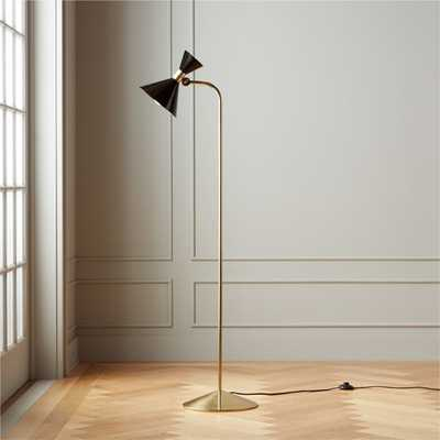 Hicks Black Floor Lamp - CB2