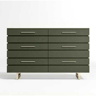 Kids Jewel Wide Dark Green Dresser - Crate and Barrel