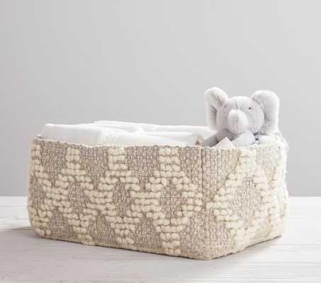 Metallic Woven Wool Nursery Diaper Caddy - Pottery Barn Kids