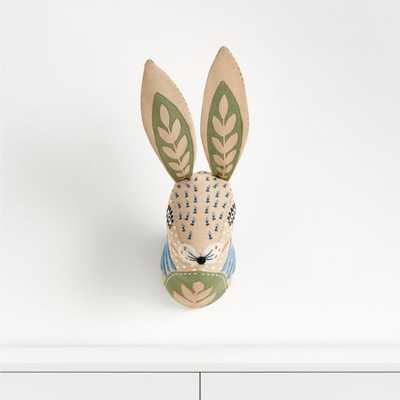Curious Bunny Head Wall Decor - Crate and Barrel