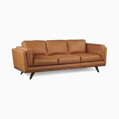 Zander Sofa,Tan,Charme Leather,Almond - West Elm