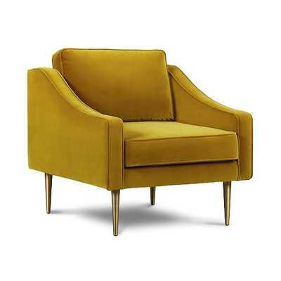 Aniston Chair Gold Velvet Stainless Steel - West Elm