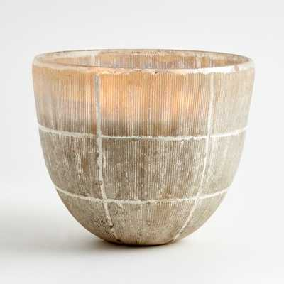Etched Silver Candle Pot - Crate and Barrel