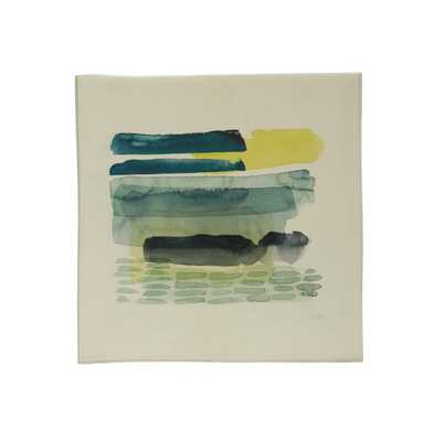 """16.5"""" Square Abstract Canvas Wall Art - Moss & Wilder"""