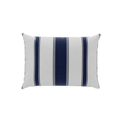 Outdoor Lumbar Pillow | Navy Clarence Stripe - The Inside