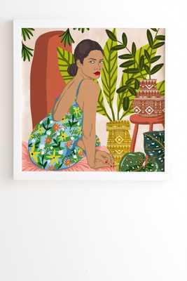 "Worth The Wait by 83 Oranges - Framed Wall Art Basic White 20"" x 20"" - Wander Print Co."