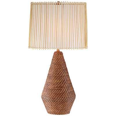 Bali Brown Rattan Table Lamp - Style # 79D63 - Lamps Plus