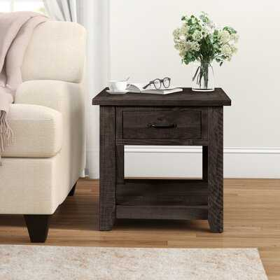 Soham Solid Wood End Table with Storage - Birch Lane
