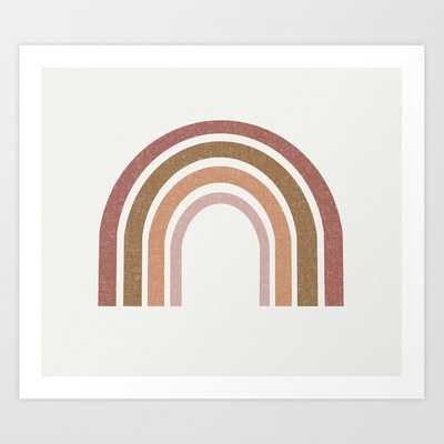 Earthy Rainbow - Muted, 70s, Retro Art Print by Charlottewinter - SMALL - Society6