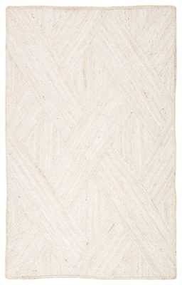Vero Natural Trellis Ivory Area Rug (5'X8') - Collective Weavers