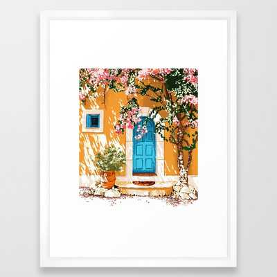 Oh The Places You Will Go #painting #travel Framed Art Print by 83 Orangesa(r) Art Shop - Vector White - MEDIUM (Gallery)-20x26 - Society6