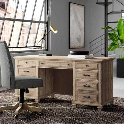 Fikes Solid Wood Credenza Desk - Wayfair