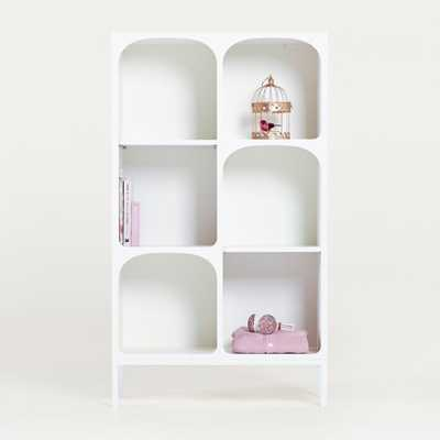 Anders White Cube Bookcase with Legs - Crate and Barrel