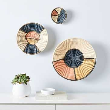 Colorblocked Wall Baskets, Set of 3, Tray, Multi - West Elm