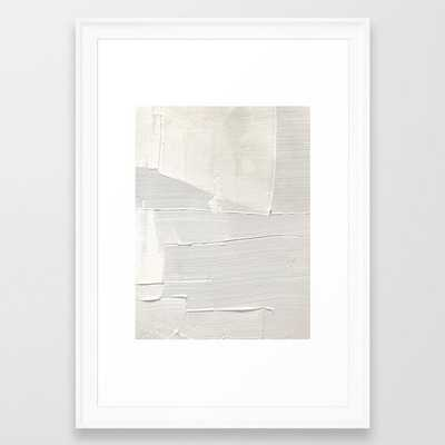 Relief [1]: An Abstract, Textured Piece In White By Alyssa Hamilton Art Framed Art Print by Alyssa Hamilton Art - Scoop White - SMALL-15x21 - Society6