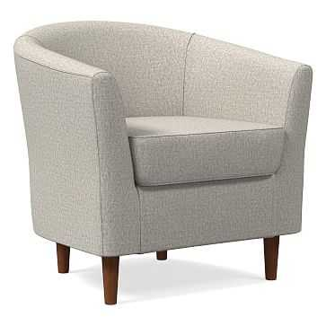 Mila Chair, Poly, Twill, Stone, Auburn - West Elm