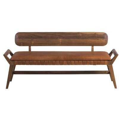 Stanger Leather Bench - Wayfair