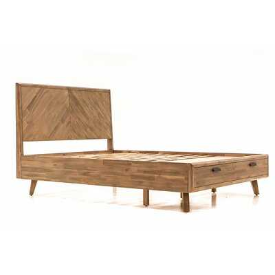 Felice Acacia Wood Storage Platform Bed - Wayfair