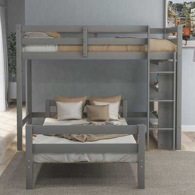 Engen Twin over Twin L Bunk Bed with Shelves - Wayfair