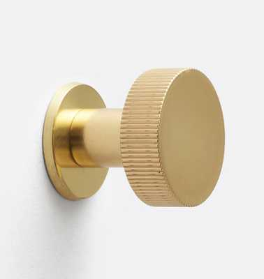 West Slope Cabinet Knob with Round Backplate - Rejuvenation