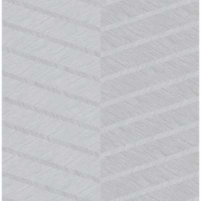 Scott Living Aspen Grey Chevron Strippable Wallpaper Covers 56.4 sq. ft. - Home Depot