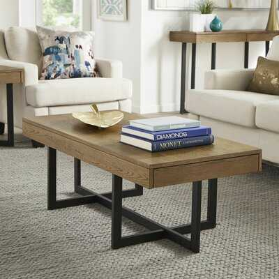 Swingle Cross Legs Coffee Table with Storage - Wayfair