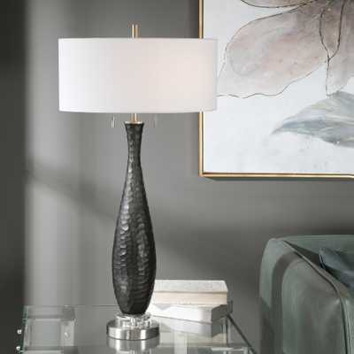 Jothan Frosted Black Table Lamp - Hudsonhill Foundry