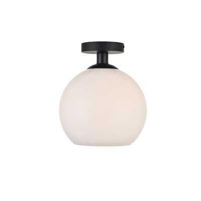 Snead 1-Light Simple Globe Semi Flush Mount - Wayfair