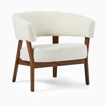 Juno Chair, Twill, Wheat, Pecan-Individual - West Elm