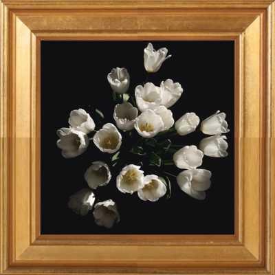 Floral 4 by Erik Melvin for Artfully Walls (gold leaf wood frame) - Artfully Walls