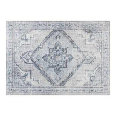 Granjeno Polyester Blue/Gray Area Rug - Wayfair