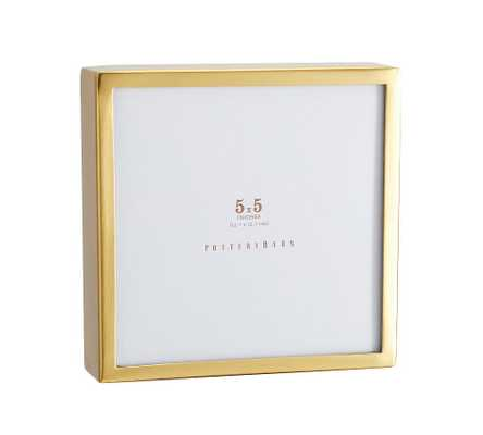 "Hagen Picture Frame, Brass, 5"" x 5"" - Pottery Barn"