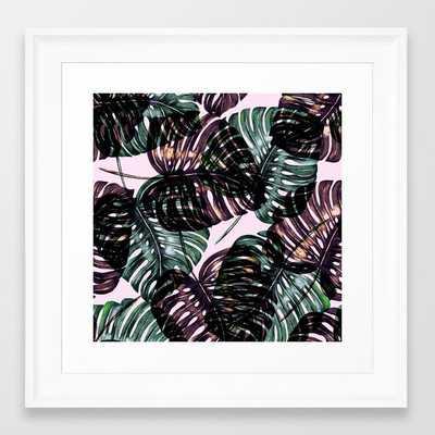 Leaf Framed Art Print by Burcu Korkmazyurek - Scoop White - X-Small-12x12 - Society6