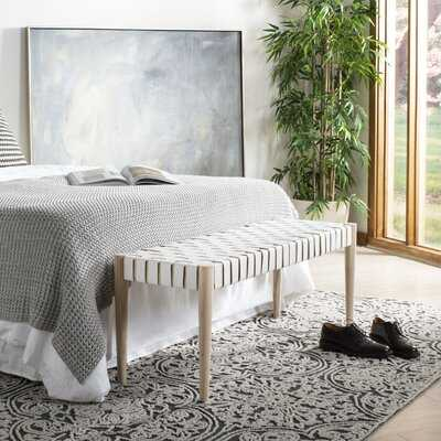 Soleil Genuine Leather Bench - Wayfair