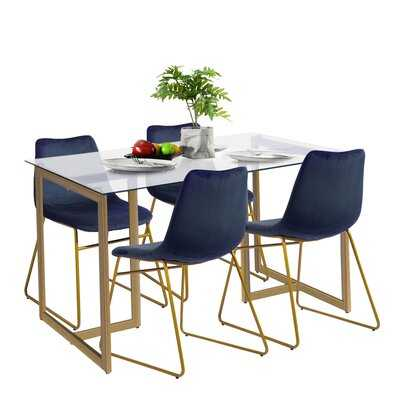 Borrayo 5 Piece Dining Set - Wayfair