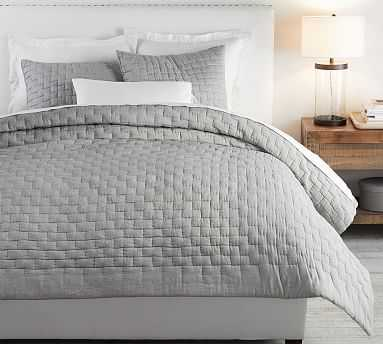 Bliss Cotton Linen Blend Quilt, Full/Queen, Flagstone - Pottery Barn