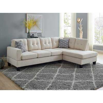 Adryel 98'' Wide Right Hand Facing Sofa & Chaise - Wayfair