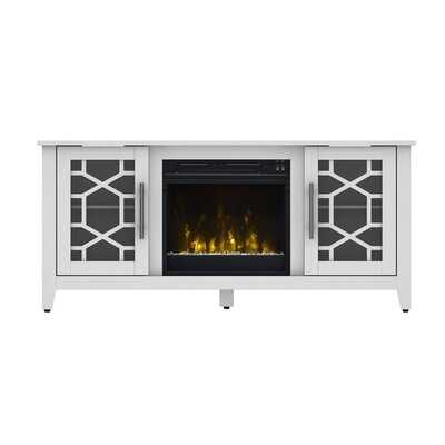 """Jennings TV Stand for TVs up to 60"""" with Fireplace Included - Wayfair"""