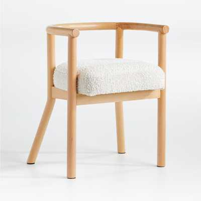 White Horse Upholstered Play Chair - Crate and Barrel