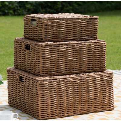 Indoor/Outdoor 3 Piece Plastic Basket Set - Wayfair