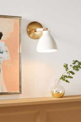 Raine Sconce By Anthropologie in White - Anthropologie
