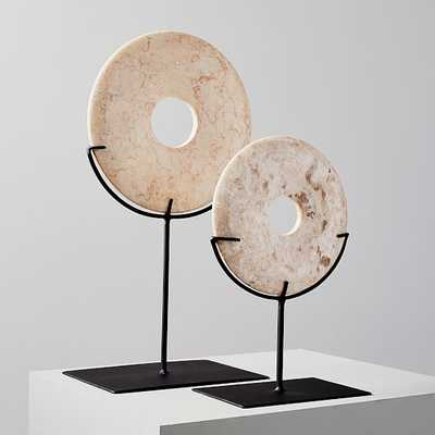 Marble Disc on Stand, Small & Large - West Elm