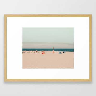 Teepee Beach Framed Art Print by Ingrid Beddoes Photography - Conservation Natural - MEDIUM (Gallery)-20x26 - Society6