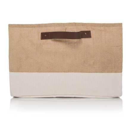 Jute And Canvas Natural Storage Basket - Pottery Barn