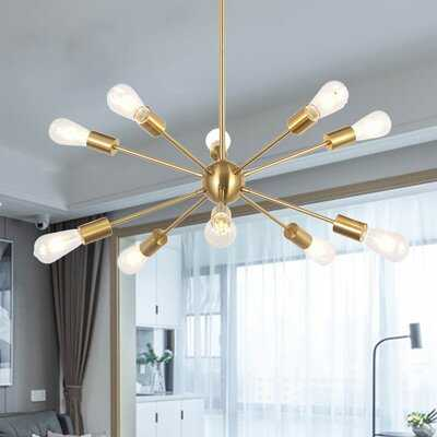 10 - Light Sputnik Sphere Chandelier - Wayfair