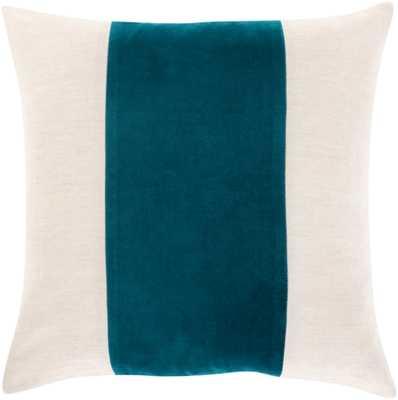 "Mina Pillow Cover, 20""x 20"", Teal - Studio Marcette"