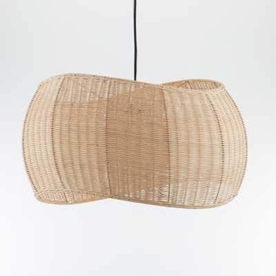 Althea Wicker Pendant Light - Crate and Barrel
