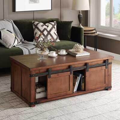 Rosa Coffee Table with Storage - Wayfair